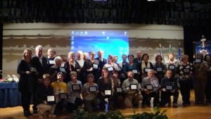 I rappresentanti dei CAV e dei MPV premiati